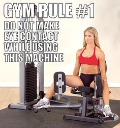 Kori, we need to remember this hahaha, we use this machine every time!    Easiest way to spot a creep at the gym