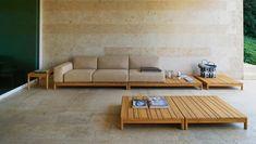 Modular sofa / contemporary / garden / fabric - BARCODE : 228 by Alessandro Dubini - Varaschin Sideboard Furniture, Door Furniture, Modern Furniture, Furniture Design, Outdoor Sofa, Outdoor Living, Diy Sofa, Corner Sectional Sofa, Sofas