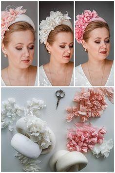 Halo Headband, Fascinator Headband, Wedding Headband, Ribbon Flower, Ribbon Hair, Hair Bow, Floral Headbands, Baby Headbands, Bridal Headpieces