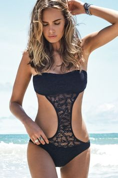 monokini - cross between bikini and one-piece