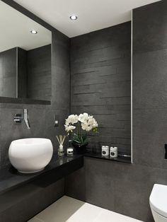 textures tendance salle de bains 2015 avec murs texturé ardoise