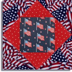 PATRIOTIC STARS AND FLAGS precut quilt kit