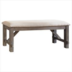 Lowest price online on all Powell Cafe Turino Dining Bench in Grey Oak Stain - 457-260