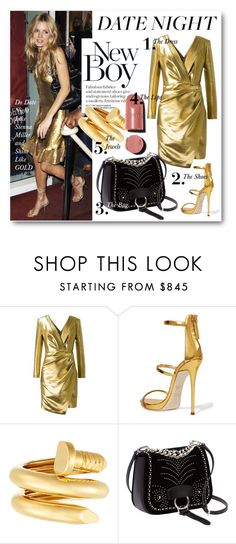 """""""#Date Night - Shine Like Sienna Miller"""" by nikkisg ❤ liked on Polyvore featuring Yves Saint Laurent, Giuseppe Zanotti, David Webb, Miu Miu, Chanel, DateNight and siennamiller"""