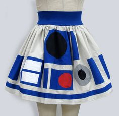 r2d2 dress. I saw Star Wars five times and don't remember this fashion statement.