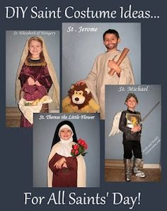 All Saints Day DIY Costumes, games, and other ideas {Plus, a Link-up} - Catholic Inspired Catholic Religious Education, Catholic Crafts, Catholic Kids, Church Crafts, Catholic Saints, Catholic School, Roman Catholic, Catholic Icing, Sainte Therese