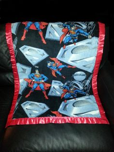 This Fleece blanket has Man of Steel SUPERMAN on it and is made from 100% Polyester Fleece with a two inch satin trim around the blanket (all our blanket trims and fleeces are 100% Polyester). We will personalize the blanket which is included in the price with the person's first name (embroidery letters are about 2 inch tall). We are in no way a sponsor or affiliated with the licensee or manufacturer. We Guarantee Quality in our blankets. Thank you for your Business.