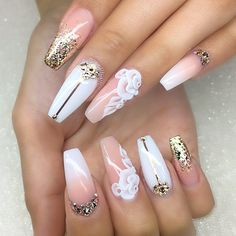 ⠀⠀⠀⠀ ⠀ ⠀ ⚜⚜ New nails for Reina⚜⚜⠀⠀⠀ ⠀⠀⠀ #nail #nails #nailart #nailwow #nail swag #instanails#ignails#nailstagram #handpainted#nailsofinstagram #nails2inspire #nailsoftheday #notd#nailaddict #nailartclub #nailpromote #naildesigns #nailartist #ballerinanails #nailprodigy #gelnails #sydneyartis #nailpro