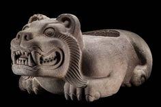 Ocelocuauhxicalli, Posclàsico tardìo 1250-1521 d. C. - República de Argentina y Donceles, Centro Histórico de la Ciudad de México  - Museo Nacional de Antropología