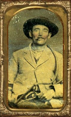 ca. 1870, alleged tintype portrait of Jesse James, via the National Portrait Gallery, Smithsonian Institution