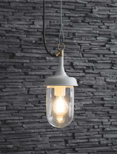 Outdoor Harbour Pendant Light in White or Black | Garden Trading Nautical Lighting, Outdoor Pendant Lighting, Coastal Lighting, Outdoor Light Fixtures, Pergola Lighting, Exterior Lighting, White Pendant Light, Wall Lights, Ceiling Lights