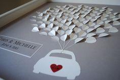 Personalizada boda libro de visitas único enmarcado por SuzyShoppe