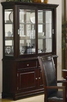 Coaster Ramona Formal Dining Room China Cabinet In Walnut Finish 101634 Lowest Price Online On All