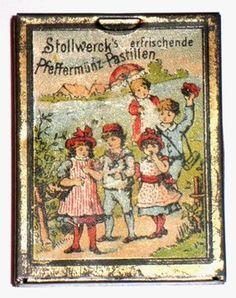 Stollwerck miniature tin of peppermint pastilles c1910