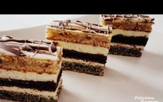 Delicious Flavours: Prajitura in dungi No Cook Desserts, Sweets Recipes, Cake Recipes, Romanian Desserts, Romanian Food, Hungarian Cake, Homemade Sweets, Croatian Recipes, How Sweet Eats