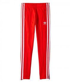 adidas Originals Kids - Supergirl Pants (Toddler/Little Kids/Big Kids) (Core Red/White) Girl's Casual Pants