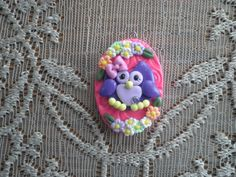 This pretty little owl would make a lovely pendant and/or ornament. Custom orders are welcome. Polymer Clay Owl, Kids Clay, Little Owl, Pretty Little, Owls, Resin, Puppies, Ornaments, Pendant