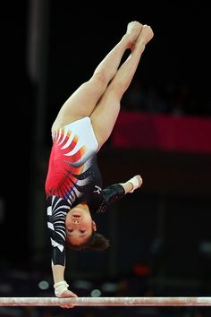 Koko Tsurumi of Japan competes in the Artistic Gymnastics Women's Uneven Bars final on Day 10 of the London 2012 Olympic Games at North Greenwich Arena on August 6, 2012 in London, England.