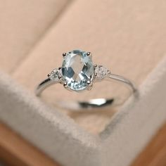 Hey, I found this really awesome Etsy listing at https://www.etsy.com/listing/279107436/aquamarine-ring-silver-oval-cut