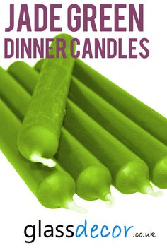 These tall candles will add a classic charm to any setting and are ideal for matching colour schemes for your wedding table. Wedding Candelabra, Wedding Table, Centre Pieces, Jade Green, Colour Schemes, Romantic, Rustic, Dinner