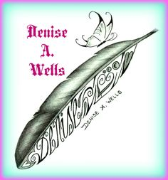 https://flic.kr/p/y1rgqd | Eagle Feather Tattoo Denise A. Wells | Eagle Feather Tattoo Design by Denise A. Wells including flying butterfly