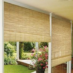 Outdoor Radiance Reed Blinds in Natural