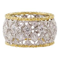 MARIO BUCCELLATI  Diamond and Gold Band
