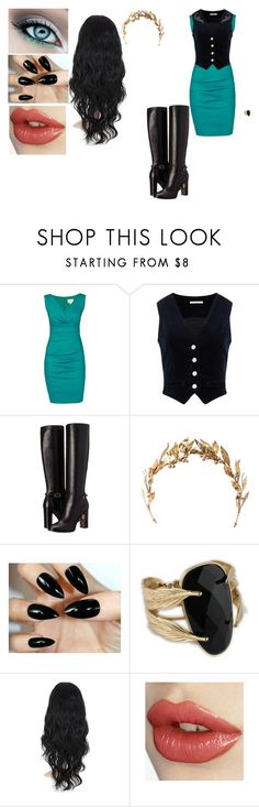 """Liliana, Book 2 outfit 2"" by locksley-cxli ❤ liked on Polyvore featuring Nicole Miller, AG Adriano Goldschmied, Burberry and Laurel Wreath Collection"