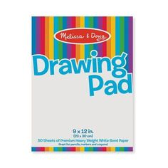 "<h3 style=""text-align: center;"" data-mce-fragment=""1""><em data-mce-fragment=""1"">50 big reasons to start sketching!</em></h3> <p data-mce-fragment=""1"">This large Drawing Pad by Melissa & Doug <span data-mce-fragment=""1"">will assist your little one in achieving professional artist status in no time. It features 50 pages of quality bond paper for budding artists to unleash their imaginations and creativity. </span>This pad <span data-mce-fragment=""1"">is an excellent tool for your young</span><s"