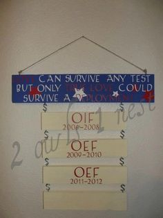 Military deployment sign by 2owls1nest on Etsy