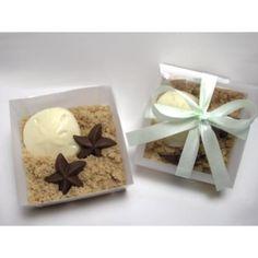 """sandy"" beach favors : cute idea to do w/ White and Milk/Dark Chocolate in Light Brown sugar"