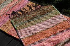 """Rug """"Garden Roses In Golden Dusk"""" - Terra Mama Garden Roses, Dusk, Bohemian Rug, Hand Weaving, Hand Knitting, Roses Garden, Weaving"""
