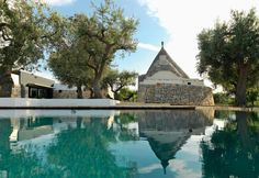 A big swimming pool in Puglia, South Italy