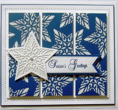 A daily papercrafting blog which features my handmade cards showcasing Creative Expression's products including my own line of cutting dies and embossing folders, Cosmic Shimmer, Ranger, Spellbinders and more which use various techniques and ideas to hopefully inspire the creativity in you.. 21/10/2016