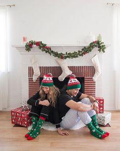 Women Christmas Mistletoe Santa Happy Compressed Socks Non-slip 3D Short Socks