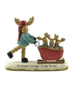 This 'To Grand Mooses House We Go' Moose Figurine is perfect! #zulilyfinds