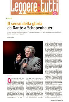 Il senso della gloria da Dante a Schopenhauer: la recensione di Lucia Fruttaldo al nuovo libro di Aldo Onorati