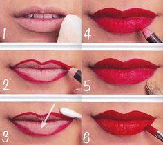 Cómo maquillarse: Labios rojos