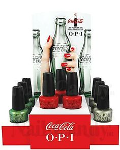 OPI Coca Cola 2015 Collection.  Have them all!!!!!  Hoarder!