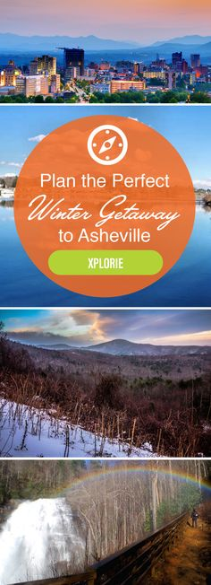 There's a lot to love about Asheville, NC in winter! The Blue Ridge Mountains offer great skiing and hiking, the Biltmore is close by, and you can experience the southern charm of downtown Asheville.