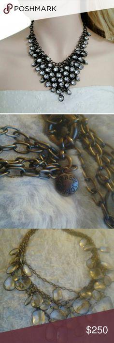 J. Crew necklace Vintage J. Crew 5 layer statement necklace. J. Crew Jewelry Necklaces