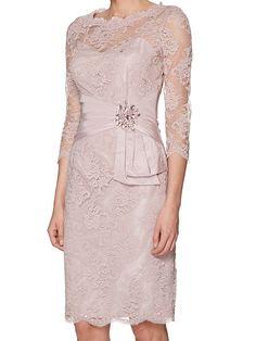 Megan lace dress with embellishment