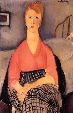 Pink Blouse Amedeo Modigliani Musée Angladon - Avignon Painting - oil on canvas Amedeo Modigliani, Modigliani Paintings, Italian Painters, Italian Artist, Blouses Roses, Edvard Munch, Art Moderne, Famous Artists, Female Art
