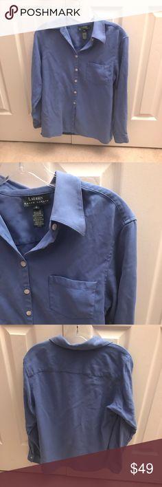 LAUREN RALPH LAUREN SILK BLUE BLOUSE SZ 6 Gorgeous 100% silk Button Down. Great color and fit Lauren Ralph Lauren Tops Button Down Shirts