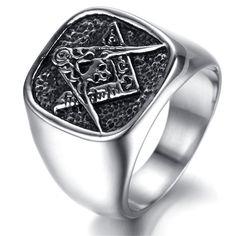 Stainless Steel for Men Vintage Finger Rings 8MM Wood /& Metal Silver Brown Biker Size 8-13 Adisaer Ring