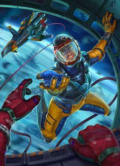 Space trap, Alexey Mordovets on ArtStation at https://www.artstation.com/artwork/6BzLr