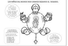 La Catequesis: Recursos Catequesis Santo Rosario para Colorear - Mes de Octubre
