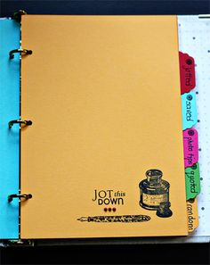 DIY SMASH book - love the use of stamps!