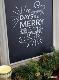 The Great Chalkboard Lettering Experiment   a free Christmas printable