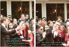 Tom Hiddleston= sweetest guy ever! :)